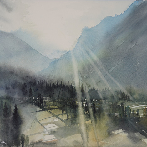 Morning in the Valley, 11x14