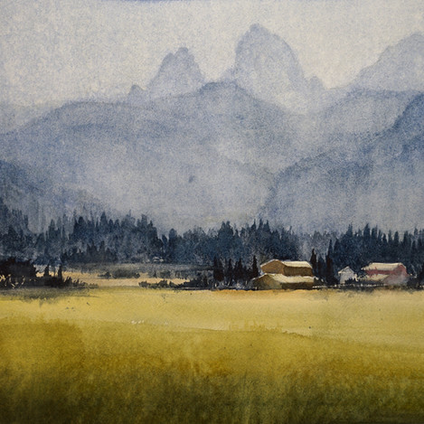 Morning mist, 13x19