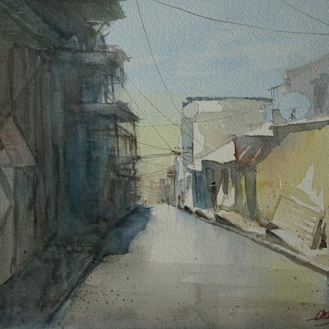 A street in Kadifekale, 11x14