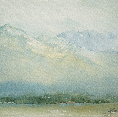 In the Shadow of Teton, 11x14