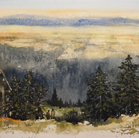 teton valley from the ridge, 13x19