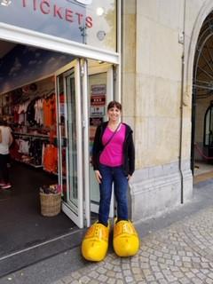 Dina Having Fun in Belgium