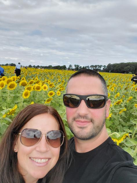 Sunflower maze on Long Island.