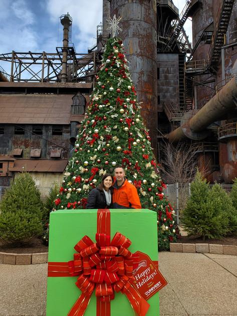 Getting in the Christmas spirit in Bethlehem Pennsylvania.