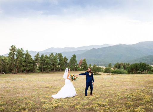 Carrieann and Ronald's Blue and Orange Wedding at Brush Canyon Ranch - Colorado Wedding Photography