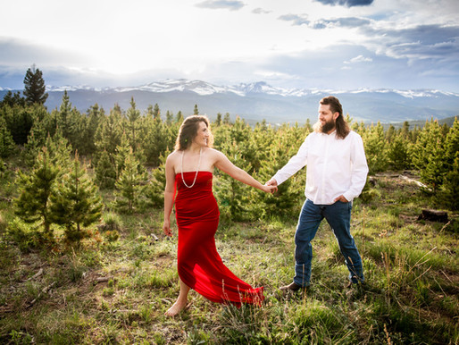 Summer Engagement in the Rocky Mountains - Boulder Wedding Photographer - Sarah Goff Photography
