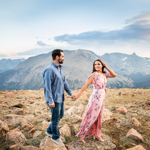 Amanda & Colin's Stormy Summer Engagement Session - Rocky Mountain Nat'l Park - Colorado Photography
