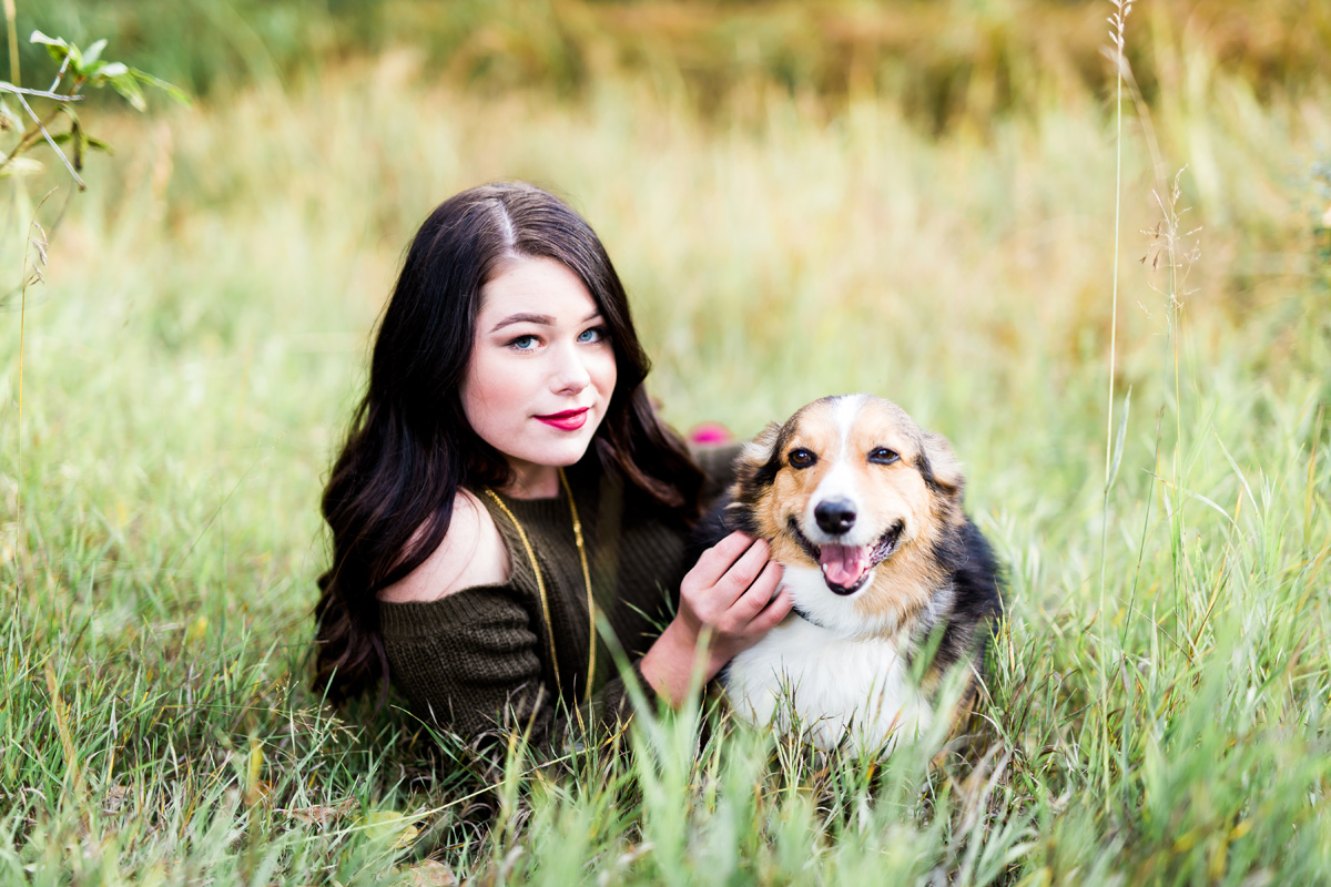 Estes Park Senior Photography Dog