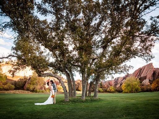 A Fall Wedding at Arrowhead Golf Course - Krista & Kaleb are MARRIED - Colorado Mountain Photography