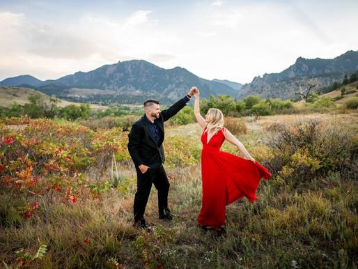 Sarah and Jak's Engagement Photos near Boulder, Colorado - Mountain Wedding Photographer
