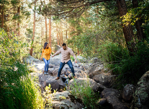 Letícia and Dominic's Fall Engagement in Rocky Mountain National Park - Colorado Wedding Photography