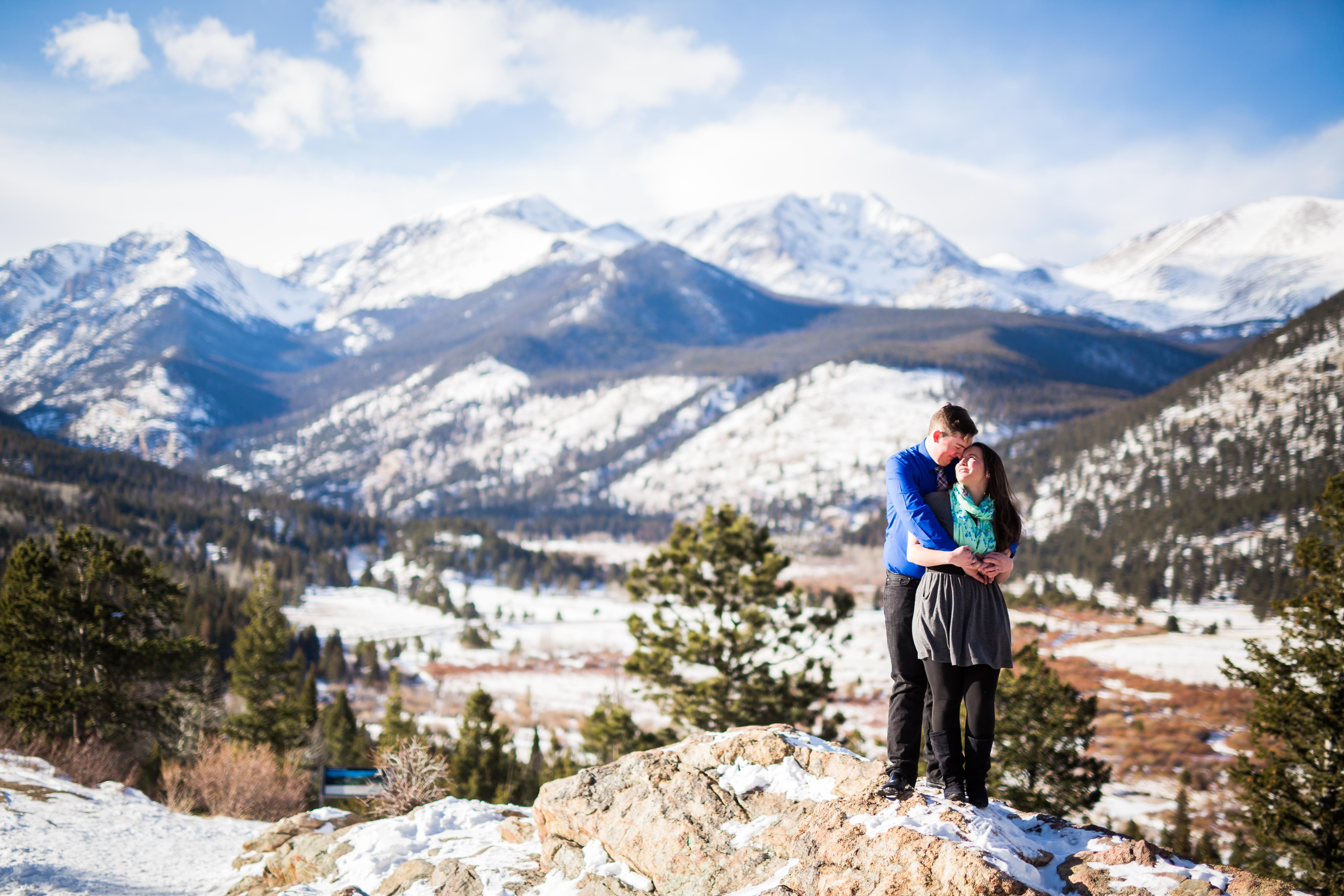 Winter RMNP Engagement Photography