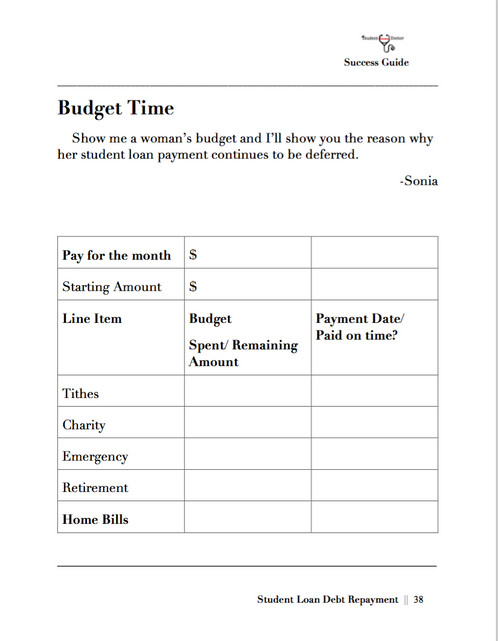 monthly budget template sheet