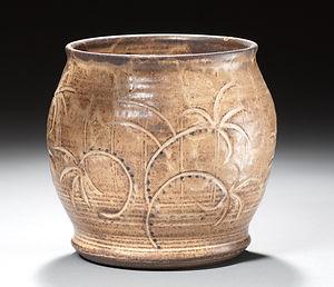 carved crock