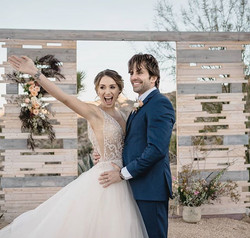 Beautiful couple featured in _bridalmusi