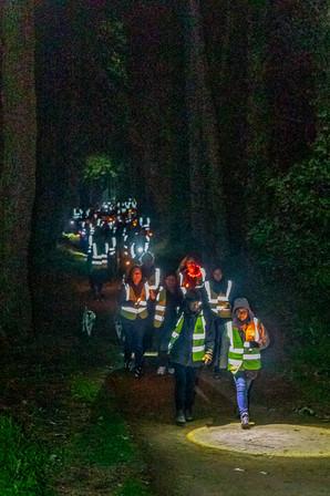 Walk to the dawn jersey railway tradk