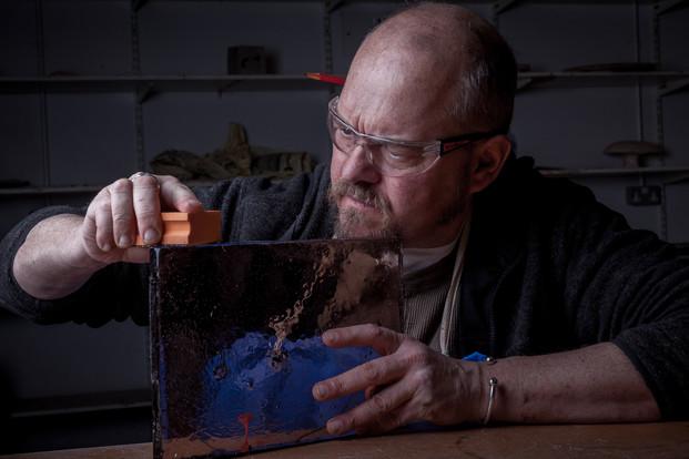 Glass artist Marc Mcarty