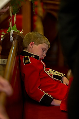 Wedding, the sleeping soldier
