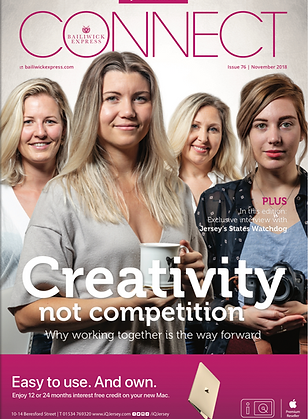 connect magazine cover, creativity,by Gary Grimsahaw, photoreportage, jersey