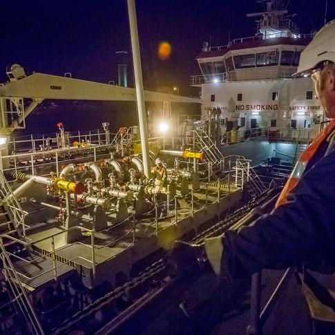 Ronez quarry supply ship