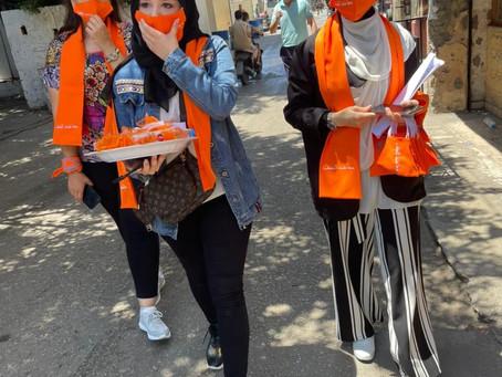 V Libanonu izvedena akcija proti nasilju po spolu »Make world orange«