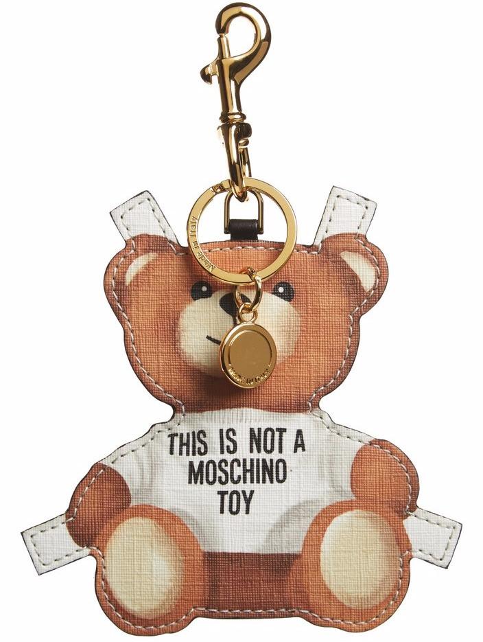 moschino bear collection bag charm