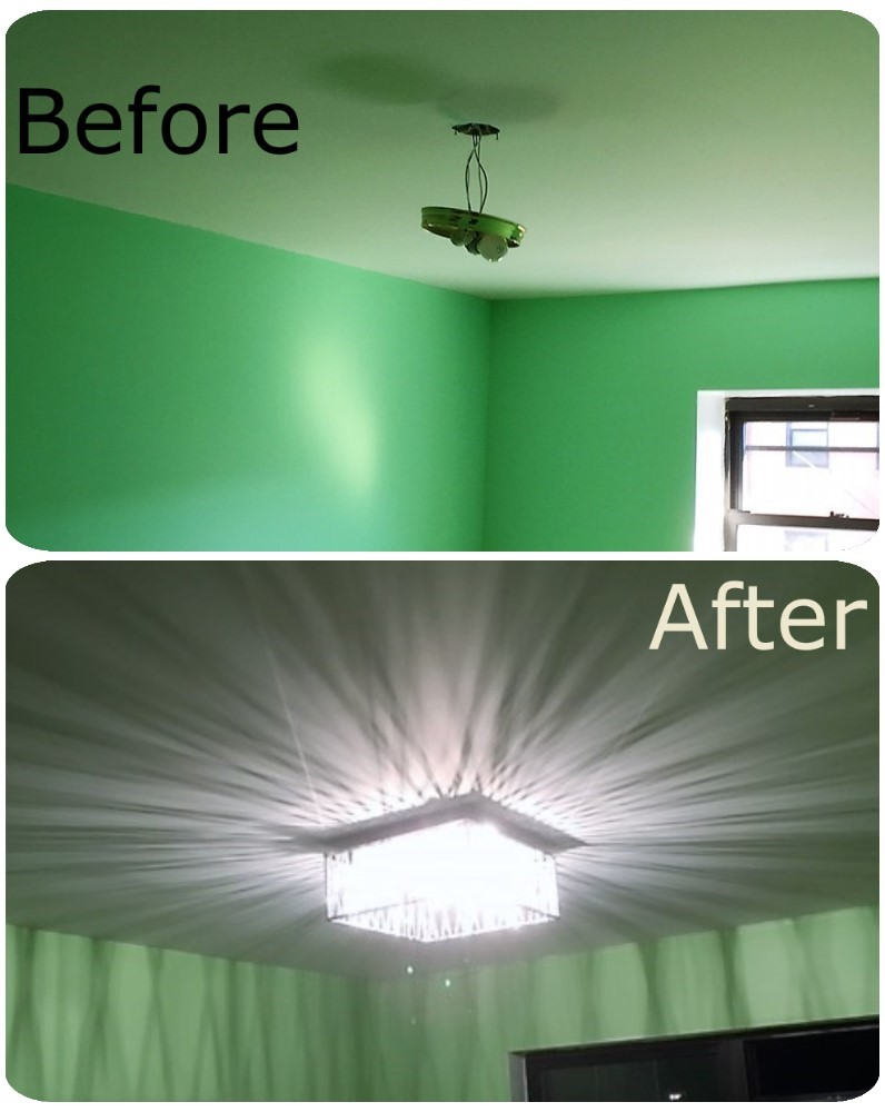 before and after lights