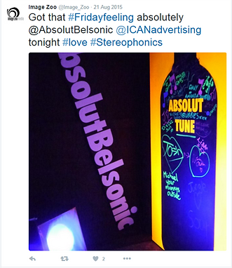 UV Inspiration wall belfast twitter activity