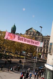 Cross street banner belfast