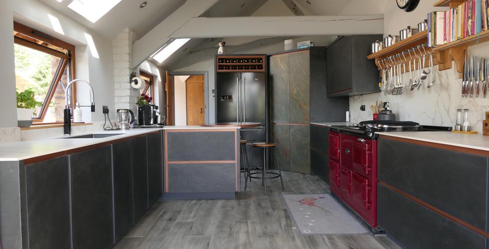 Slate handmade kitchen | Milan | Minerva Design