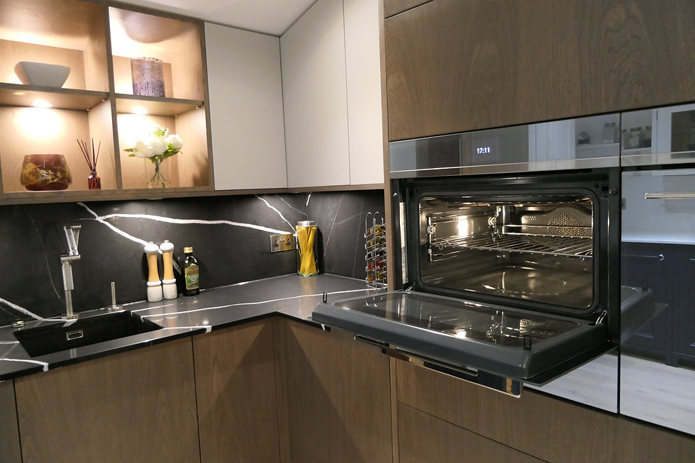 Integrated ovens, taps, sinks