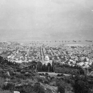 Historic photos of the Bahá'í Gardens in Haifa