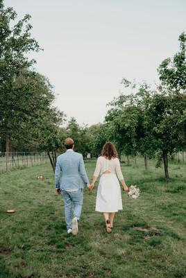 White & Beige Civil wedding