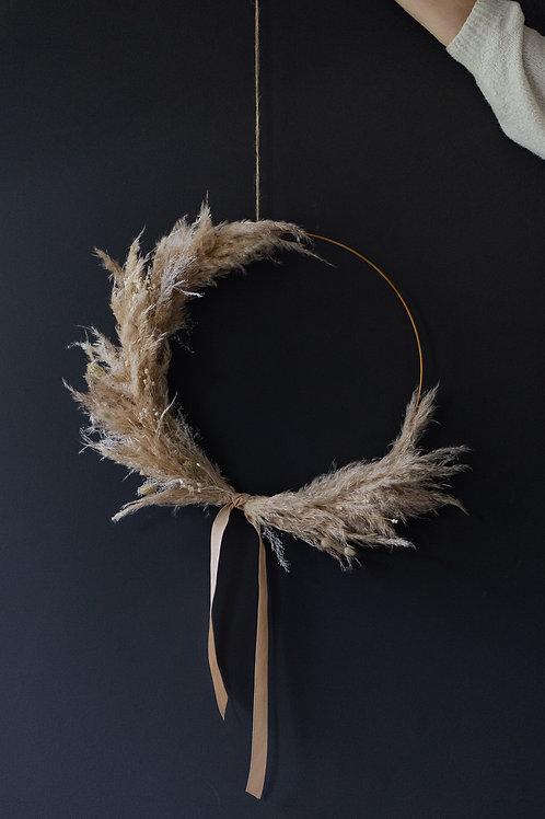 Dreamy wreath on a hoop