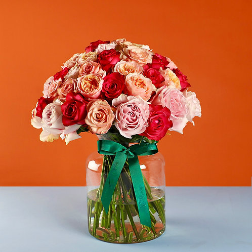 Beautiful Mixed Rose Dome