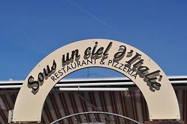 Enseigne Sous un ciel d'Italie restaurant et pizzeria à Riedisheim