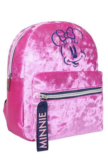 Disney Casual Fashion Plush Backpack Pink Minnie
