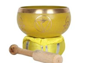 Yellow Solar Plexus Chakra Brass Singing
