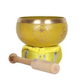 Yellow Solar Plexus Chakra Brass Singing Bowl