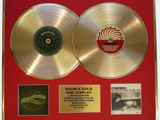 STEREOPHONICS, DOUBLE CD GOLD DISC DISPLAY, LTD. EDITION