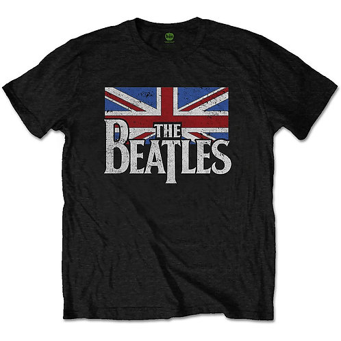 Beatles (The), Drop T Logo & Vintage Flag