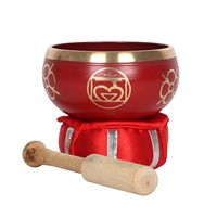 Red Root Chakra Brass Singing Bowl