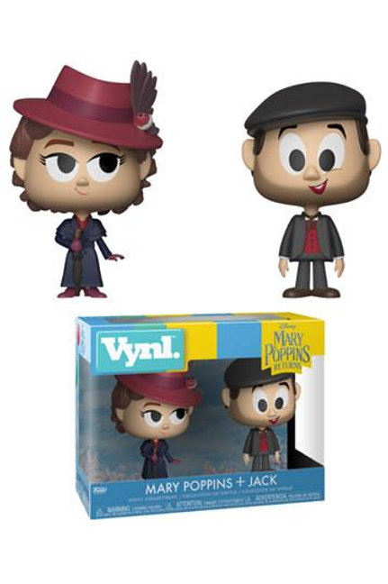 Mary Poppins 2018 VYNL Vinyl Figures 2-Pack Mary & Jack the Lamplighter 10 cm