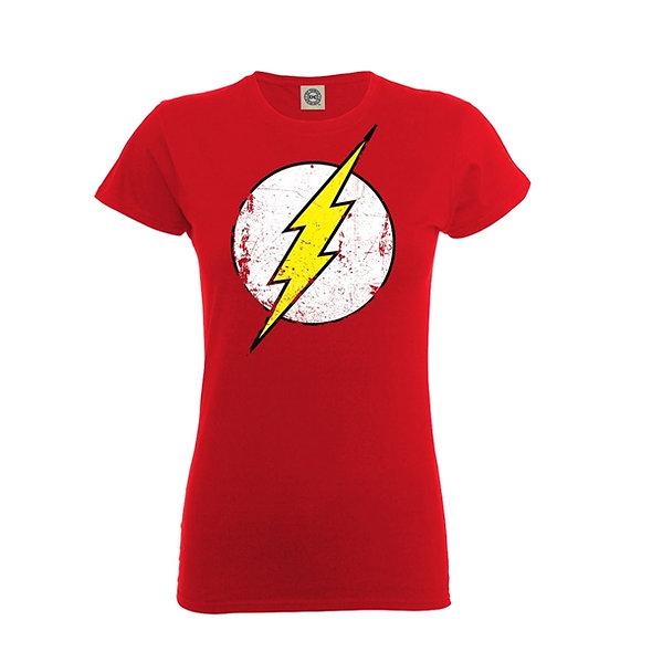 DC Originals, Flash Distressed Logo (Girlie Fit)