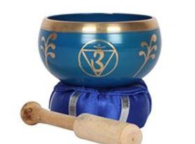 Deep Blue Third Eye Chakra Brass Singing