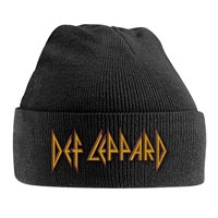 Def Leppard, Red/Yellow Logo (Embroided Beanie))