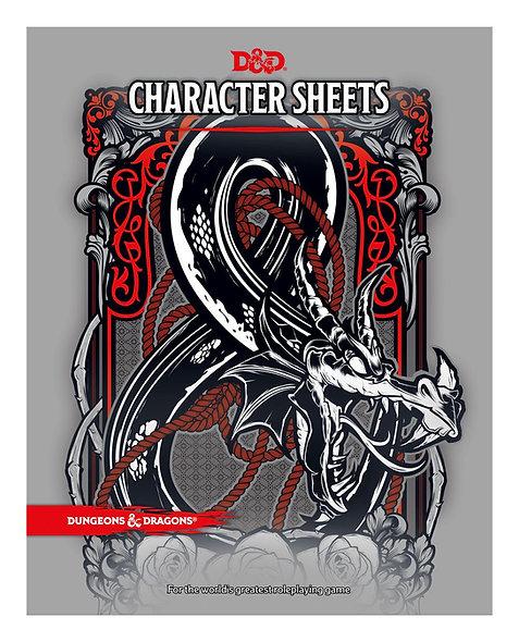 Dungeons & Dragons RPG Character Sheets (24)  (English)
