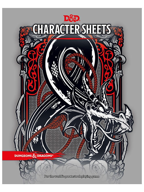 Dungeons & Dragons RPG Character Sheets (24)  (English)