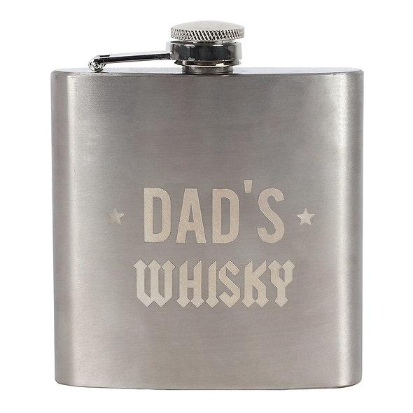 Dad Rocks Whisky Hip Flask