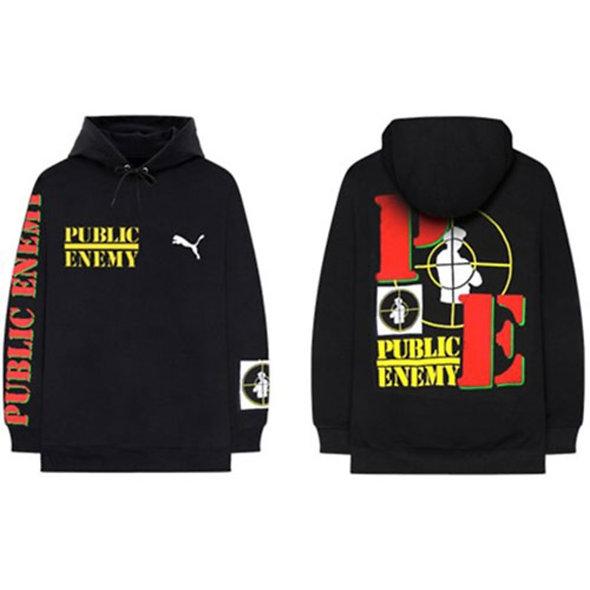 Public Enemy, Target Hoodie with Back Print